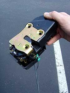 Replacing The Left Rear Door Lock Actuator Latch On A